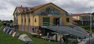Zelten am Bootshaus